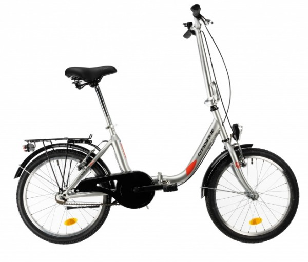 DHS 2092 vouwfiets 20 Zoll 35 cm Unisex Felgenbremse Silber