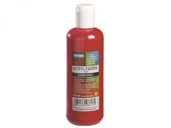 Toppoint Acryl-Flasche in 250 ml roten